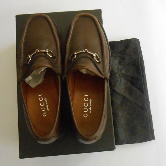 658be4bf099 Gucci Shoes - Gucci Brown Womens Lug Sole Loafers 6 1 2 B